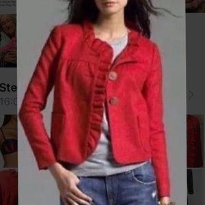 Chosen BEST in coats!! JCREW Fiona Ruffle Jacket